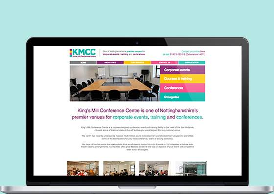 Kings Mill Conference Centre Website Midas Creative