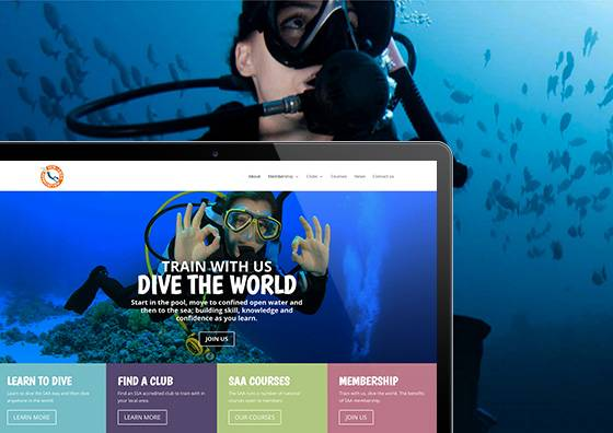 sub-Aqua Association Website Midas Creative Mansfield