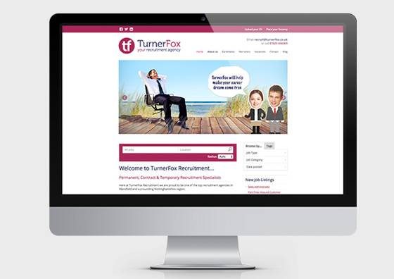 TurnerFox Recruitment Website Midas Creative