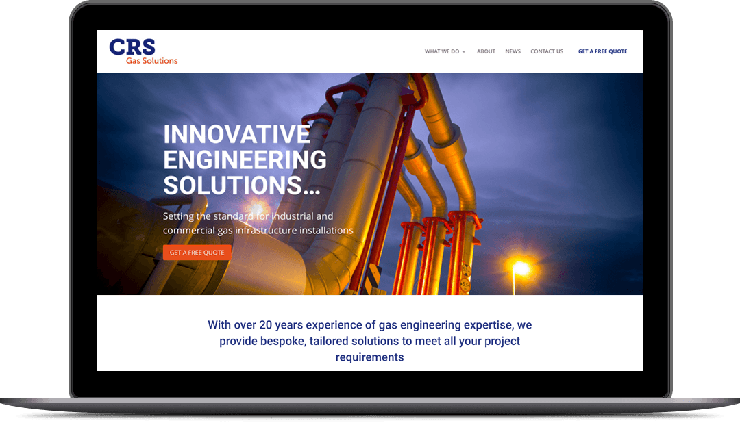 Small business website design for CRS Gas Solutions