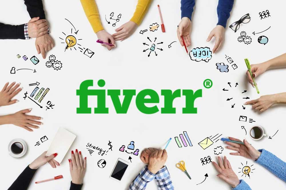 graphic of fiverr freelance website