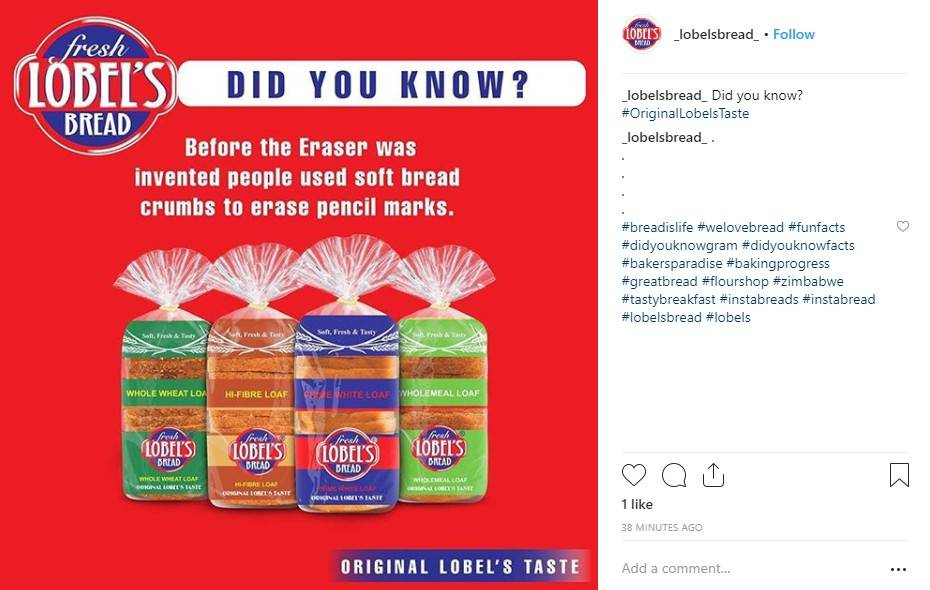 Instagram image showing a fun fact