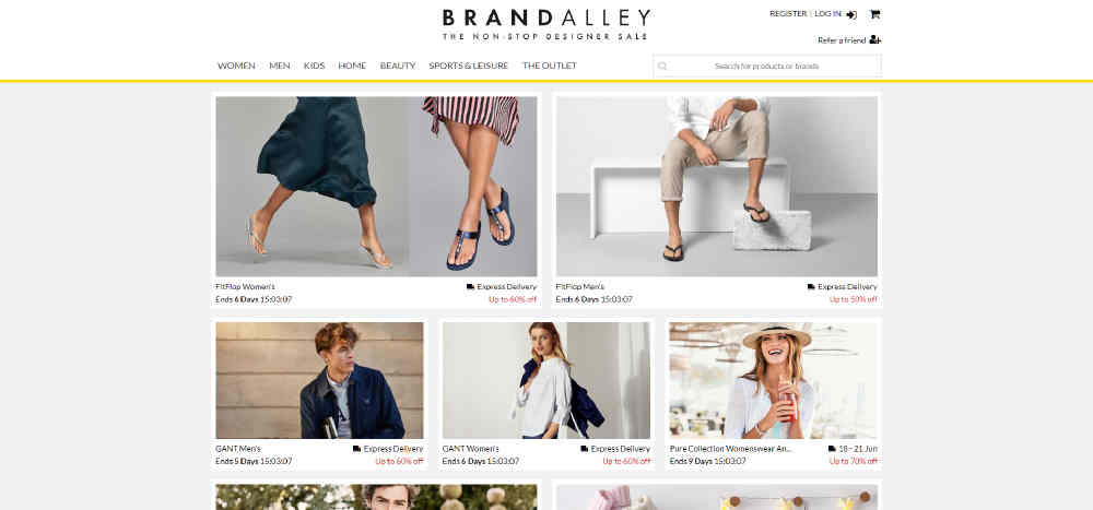 Image showing BrandAlley ecommerce website design tips