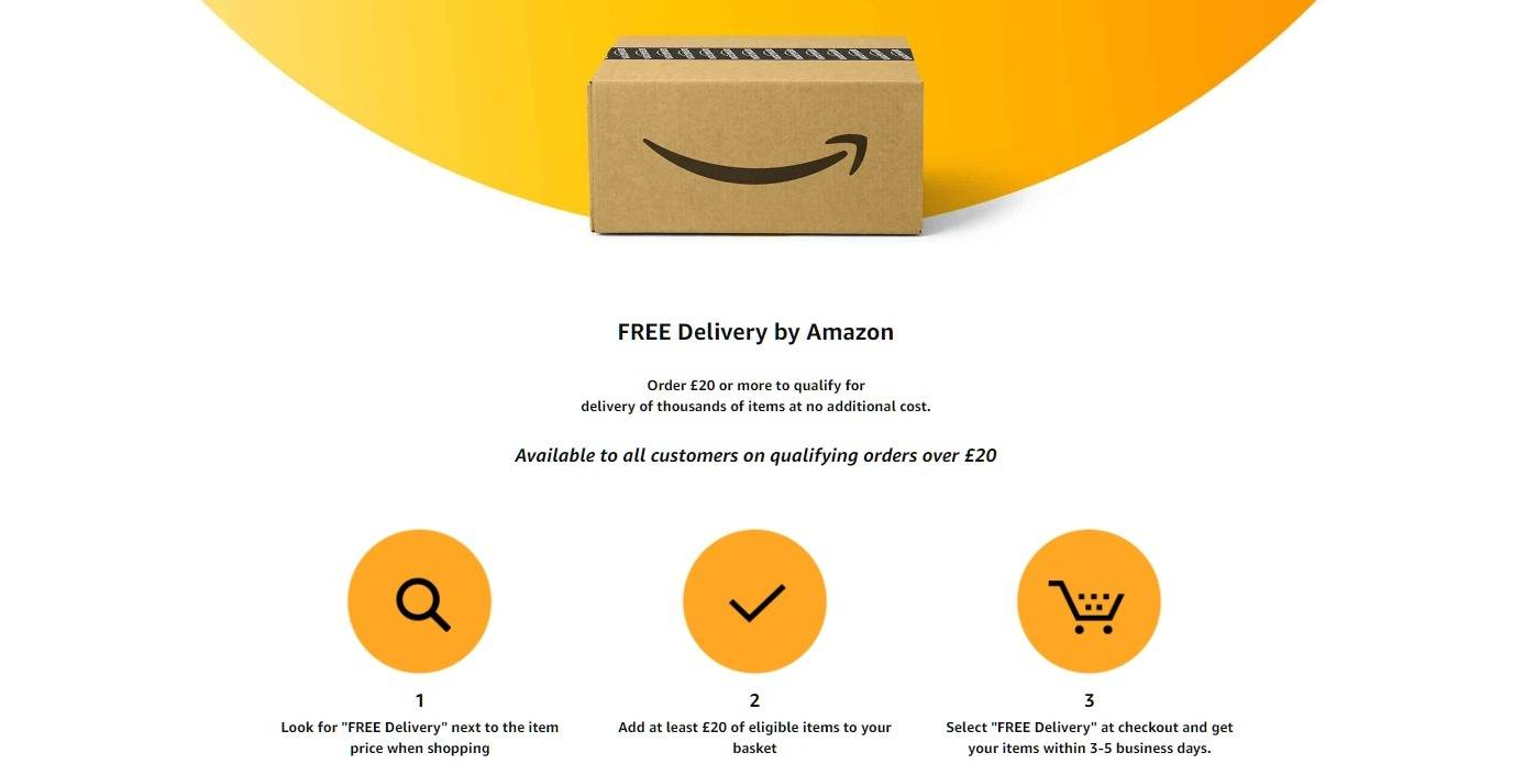 Website illustrating that they offer free shipping in their ecommerce store
